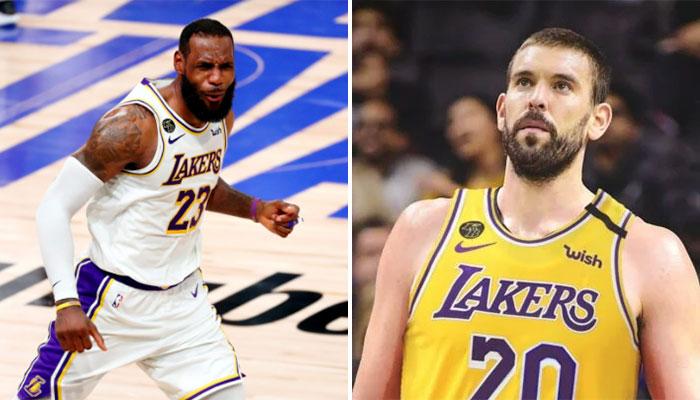 LeBron James souhaite la bienvenue à Marc Gasol aux Lakers NBA