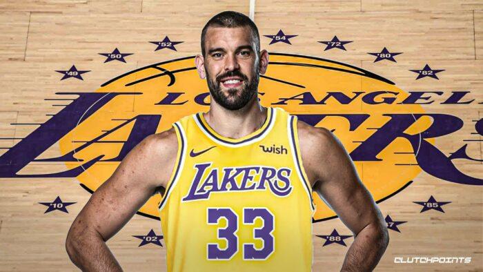Marc Gasol sous le maillot des Lakers