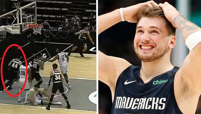 Luka Doncic bluffé par le geste de Milos Teodosic