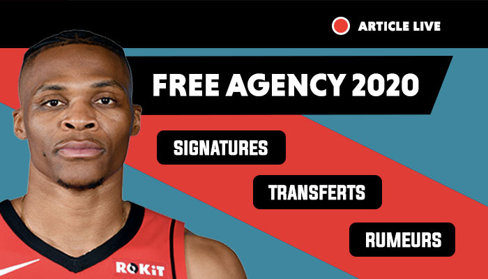 NBA free agency 2020, trades et transferts, free agents