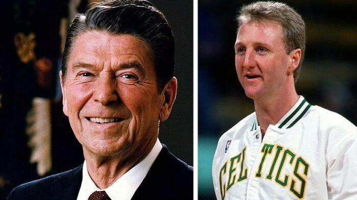 Ronald Reagan et Larry Bird