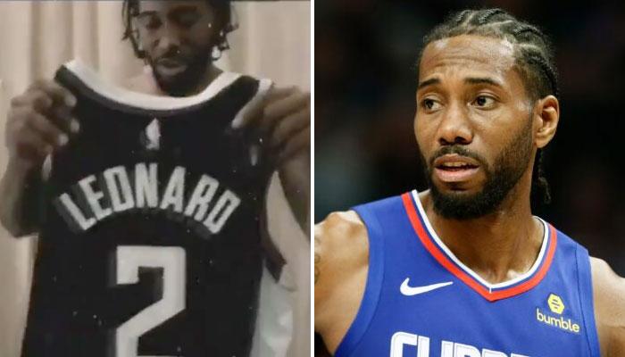 Kawhi Leonard a montré le nouveau maillot des Clippers NBA, et un nouveau style