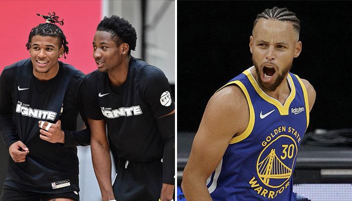Les deux jeunes talents de la G-League Ignite Team, Jalen Green et Jonathan Kuminga, pourraient bien atterrir chez les Warriors de Stephen Curry en NBA l'an prochain