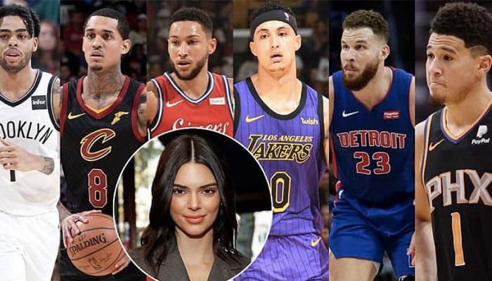 Les joueurs NBA D'Angelo Russell, Jordan Clarkson, Ben Simmons, Kyle Kuzma, Blake Griffin et Devin Booker, auraient tous eu une relation plus ou moins sérieuse avec la supermodel Kendall Jenner
