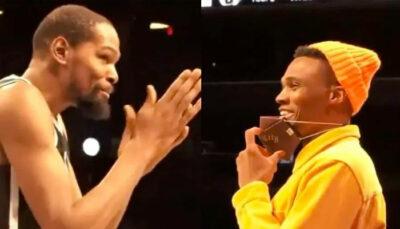 NBA – La réaction de Russell Westbrook au gros fail de Kevin Durant au buzzer