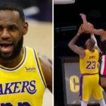 NBA – LeBron se fait salement contrer au cercle !
