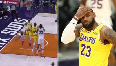 NBA – LeBron auteur d'un vilain geste sur un adversaire ?