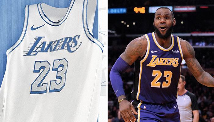 Le nouveau maillot City Edition des Los Angeles Lakers, qui sidère ici la superstar NBA LeBron James, n'est pas le seul nouveau design révélé par la franchise