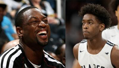 NBA – D-Wade s'affiche tout seul, son fils réagit, les joueurs morts de rire !