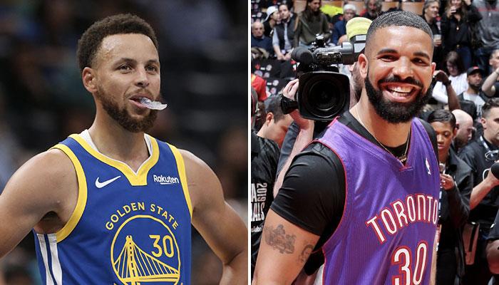 Le meneur star des Golden State Warriors, Stephen Curry, fait l'objet d'une rumeur avec le rappeur canadien Drake, grand fan des Toronto Raptors, et a lâché un gros teaser à ce sujet
