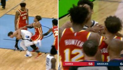 NBA – Trae Young s'agace et provoque une échauffourée !
