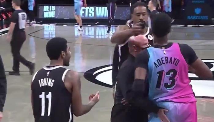 Bam Adebayo et Kyrie Irving ont été stoppés net par un membre du staff après avoir voulu échangé leurs maillots NBA