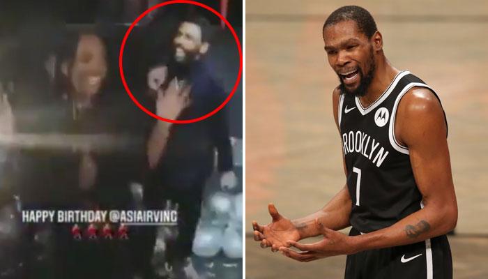 Kyrie Irving a été aperçu en soirée alors qu'il refuse encore de jouer en NBA avec les Nets