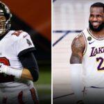 NBA – Le message fort de LeBron James au «GOAT» Tom Brady