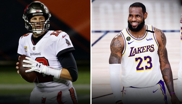LeBron James a rendu un vibrant hommage à Tom Brady en NFL