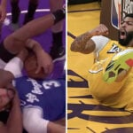 NBA – Au sol, Anthony Davis victime… d'une prise de catch !