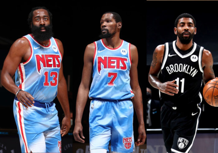 James Harden, Kyrie Irving, Kevin Durant des Brooklyn Nets