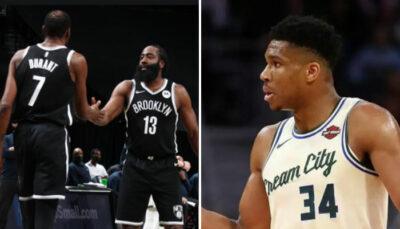 NBA – Giannis honnête sur le duo James Harden/Kevin Durant