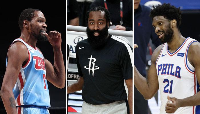La superstar des Houston Rockets, James Harden, a le choix entre les Brooklyn Nets de Kevin Durant et les Phialdelphia 76ers de Joel Embiid pour son trade