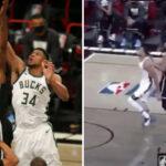 NBA – Kevin Durant envoie Giannis au sol volontairement !