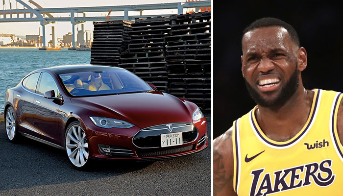 La star NBA des Los Angeles Lakers, LeBron James, comparé à une Tesla par Kendrick Perkins
