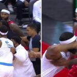 NBA – Début de fight entre Lakers et Rockets, 2 joueurs éjectés au total !