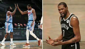 NBA – KD peste contre la « terrible » perf de son duo avec Harden