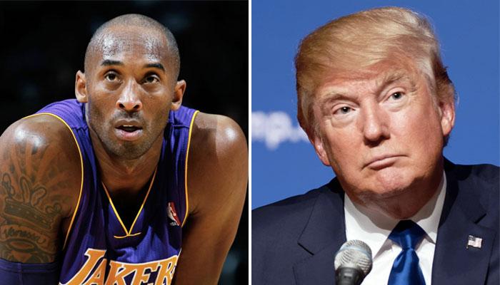 Donald Trump rend homme à Kobe Bryant NBA au national garden