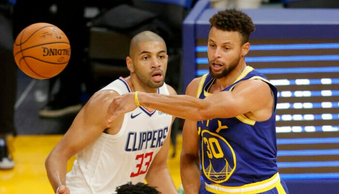 Nicolas Batum Stephen Curry Los Angeles Clippers Golden State Warriors