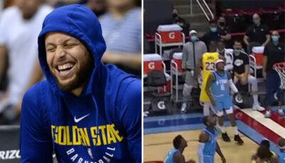 NBA – LeBron sort une séquence insolente et trash-talke façon Steph Curry !