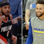 NBA – Steph Curry admiratif devant un gros move de Carmelo Anthony