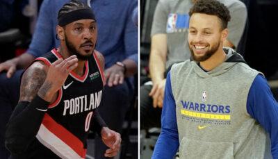 NBA – Steph Curry admiratif devant un gros move de Carmelo Anthony