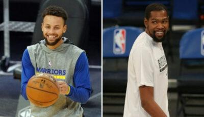 NBA – La réaction hilarante de Kevin Durant au panier clutch de Steph Curry