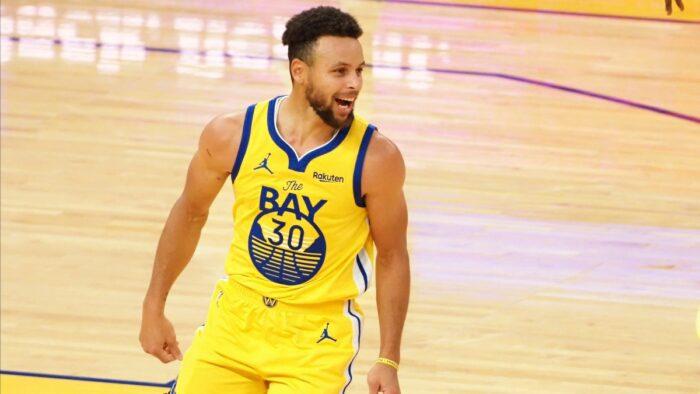 Steph Curry avec les Warriors