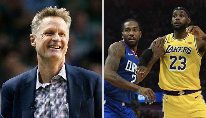 L'entraineur des Golden State Warriors, Steve Kerr, s'est fendu d'une déclaration qui risque de ne pas faire plaisir aux Los Angeles Clippers de Kawhi Leonard et aux Los Angeles Lakers de LeBron James