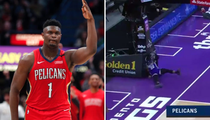 Trop puissant, Zion envoie valser un adversaire sur plusieurs mètres ! NBA