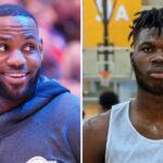 NBA – Un top prospect termine à 32 pts et 16 rebs de moyenne, LeBron réagit !