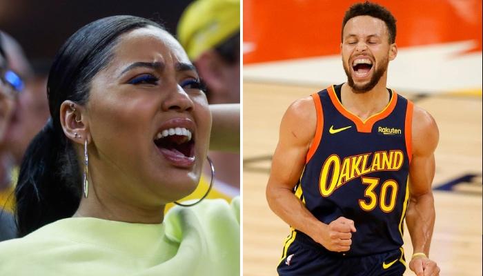La superstar NBA des Golden State Warriors, Stephen Curry, auteur d'un match gigantesque face au Mimai Heat, a reçu les éloges en direct de sa femme, Ayesha, complètement ne furie devant son écran