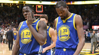 NBA – Kevin Durant tacle Klay Thompson et Draymond Green !