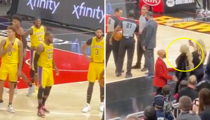 En plein match, LeBron s'embrouille avec une fan ! NBA