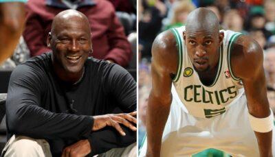 La légende NBA des Chicago Bulls, Michael Jordan, prend un malin plaisir à offrir une séance de trash-talking humiliante à l'ancien intérieur des Celtics, Kevin Garnett à chaque fois qu'il le croise