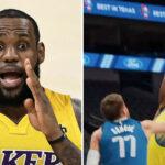 NBA – LeBron réagit au gros poster de Draymond sur Doncic