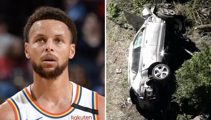 Tiger Woods accident de voiture Stephen Curry NBA