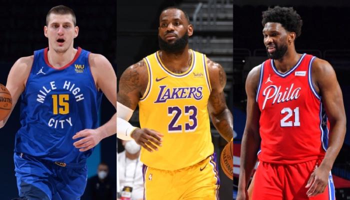 Les superstars NBA Nikola Jokic (Denver Nuggets), LeBron James (Los Angeles Lakers) et Joel Embiid (Philadelphia 76ers) mènent la course pour le titre de MVP d'après le récent sondage réalisé par ESPN