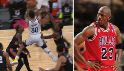 NBA – Steph Curry lâche un lay-up sidérant à la Michael Jordan !