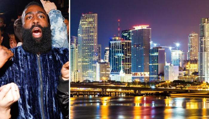 Miami Heat skyline et James Harden