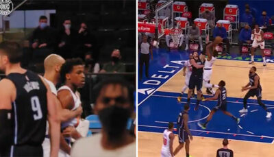 NBA – Frank Ntilikina brutalise Vucevic et ses 120 kilos !