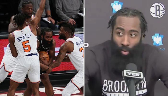 La superstar NBA des Brooklyn Nets, James Harden, a révélé avoir été choquée par un aspect de la rencontre face aux New York Knicks