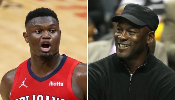 Le jeune intérieur star NBA des New Orleans Pelicans, Zion Williamson, choqué, vient de voir les premières images de sa prochaine chaussure signature avec Jordan Brand, la Jordan « Z Code », dévoilées
