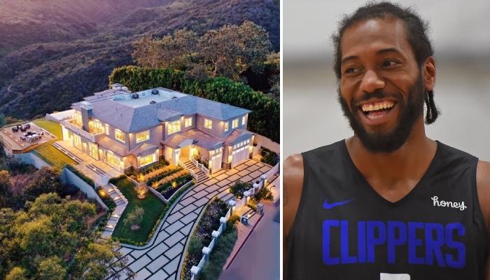 La nouvelle maison gargantuesque de la star des Los Angeles Clippers, Kawhi Leonard, à Los Angeles